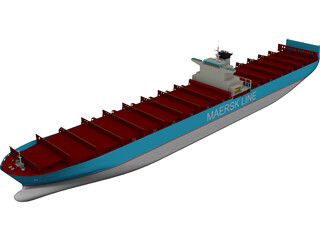 Maersk Container Ship 3D Model
