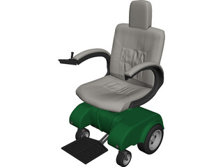 Power Wheelchair 3D Model