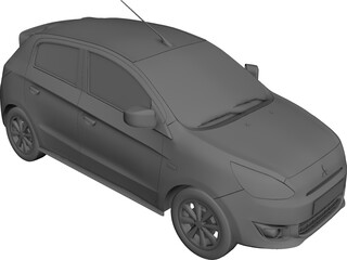 Mitsubishi Mirage (2013) 3D Model