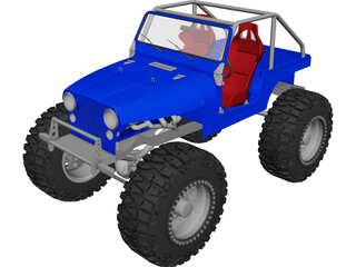 Jeep CJ5 Rock Crawler (1975) 3D Model