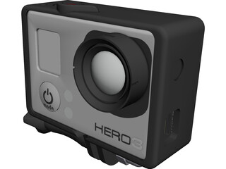 GoPro Hero 3 HD Camera CAD 3D Model