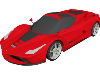 Ferrari LaFerrari (F70) (2014) 3D Model
