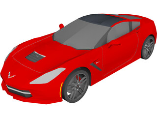 Chevrolet Corvette Z51 Stingray (C7) (2014) 3D Model