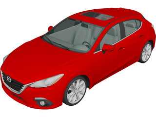 Mazda 3 Hatchback (2013) 3D Model 3D Preview