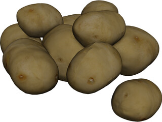 Potatoes 3D Model