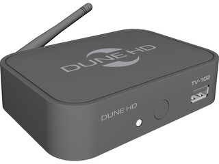 DUNE-HD TV-102W 3D Model 3D Preview