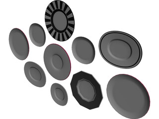 Decorative Plates 3D Model