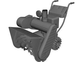 Snow Blower CAD 3D Model