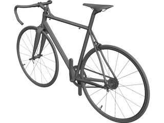 Road Bike CAD 3D Model