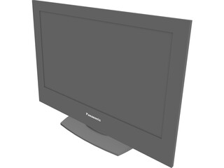 Panasonic Flat TV 3D Model