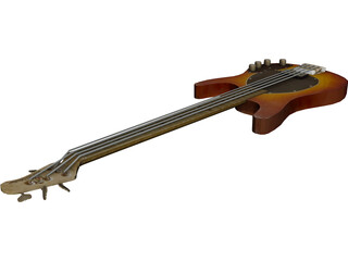 Bass Guitar 3D Model 3D Preview