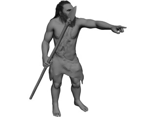 Caveman Hunter 3D Model