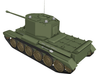 Cruiser Mk VIII Challenger A30 3D Model 3D Preview