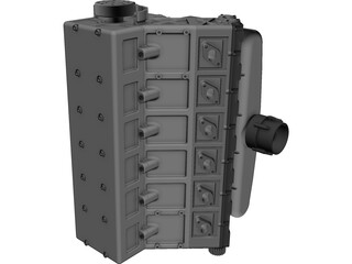 Ferrari V12 Engine CAD 3D Model