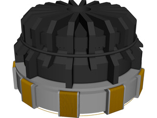 Iron Man Arc Reactor CAD 3D Model