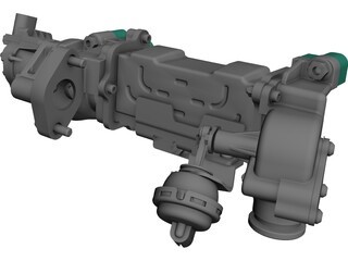 Accelerator Body CAD 3D Model