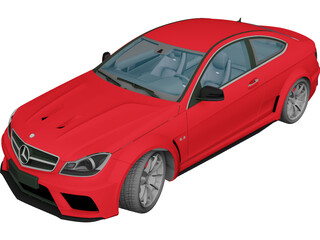 Mercedes-Benz C63 AMG Black Series (2012) 3D Model