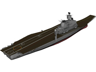 Vikramadity Aircraft Carrier 3D Model