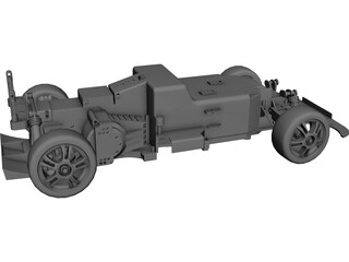 RC Car Chassis CAD 3D Model