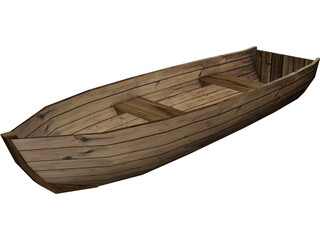 Wood Boat 3D Model 3D Preview
