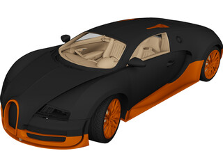Bugatti Veyron Super Sport 3D Model