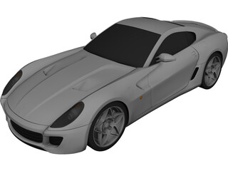 Ferrari 599 GTB Fiorano (2006) 3D Model 3D Preview