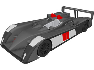 Audi R10 TDi Le Mans 3D Model 3D Preview