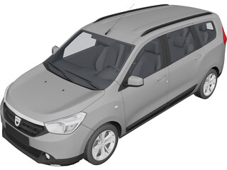 Dacia Lodgy (2012) 3D Model