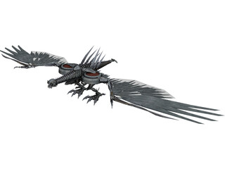 Laserbeak Mechanical Bird 3D Model