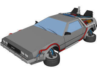 DMC Delorean X 3D Model