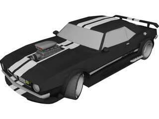 Chevrolet Yenko Camaro Supercharged 3D Model