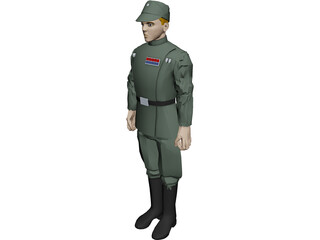 Star Wars Imperial Officer 3D Model