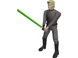 Star Wars Luke SkyWalker Jedi 3D Model