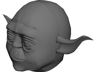 Star Wars Yoda Head 3D Model