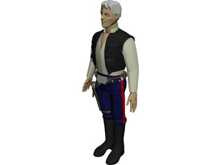 Star Wars Hans Solo 3D Model