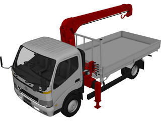 Toyota Toyoace (Tow Crane Truck) (2000) 3D Model