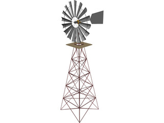 Windmill for Farm 3D Model