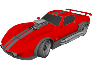 Chevrolet Corvette Supecharged (1981) 3D Model
