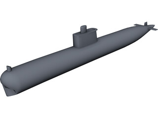 Ming Class Submarine 3D Model 3D Preview