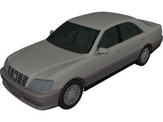 Toyota Crown (2001) 3D Model