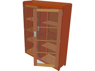 Mission Style Bookcase 3D Model