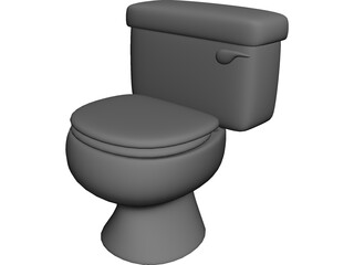 Toilet Bowl Modern 3D Model 3D Preview