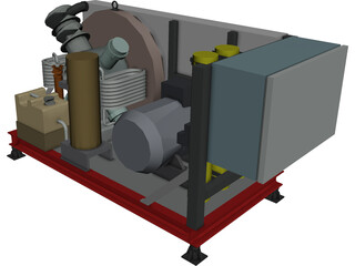 Air Compressor HP 3D Model