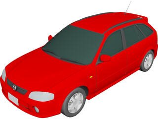 Mazda Familia S-Wagon (1999) 3D Model