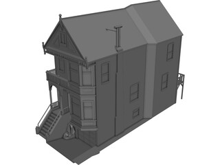 House Urban Victorian 3D Model 3D Preview