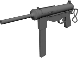M3 Greese Gun 3D Model