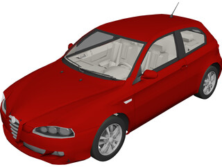 Alfa Romeo 147 (2005) 3D Model 3D Preview