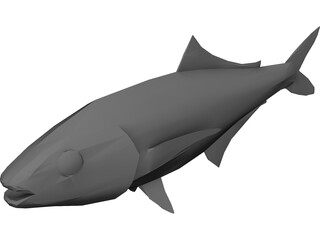 Full Fish 3D Model 3D Preview