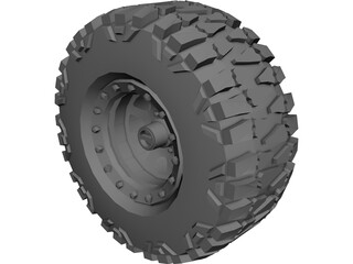 Mud Grabber Tire 3D Model