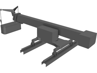 Window Crane (Large) 3D Model